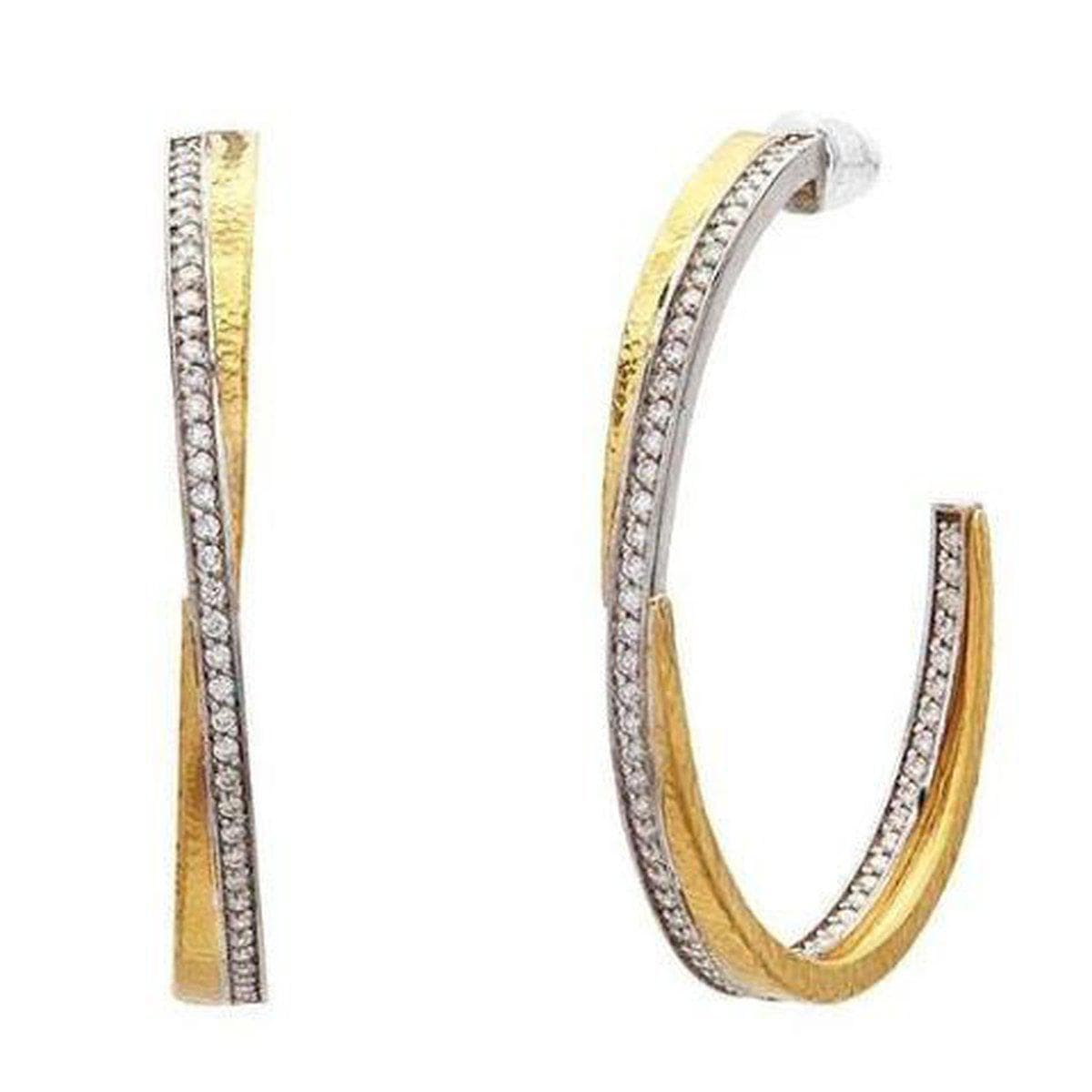 Duet 24K Gold White Diamond Earrings - E-INT-HP-L-40DI-GURHAN-Renee Taylor Gallery