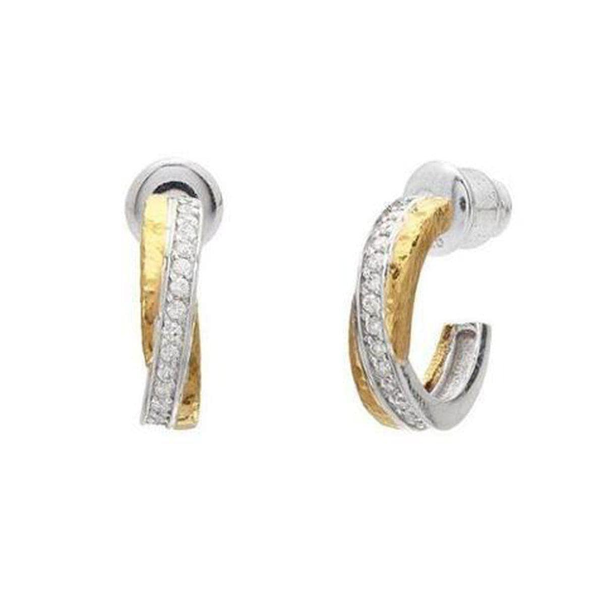 Duet 24K Gold White Diamond Earrings - E-INT-HP-S-21DI-GURHAN-Renee Taylor Gallery