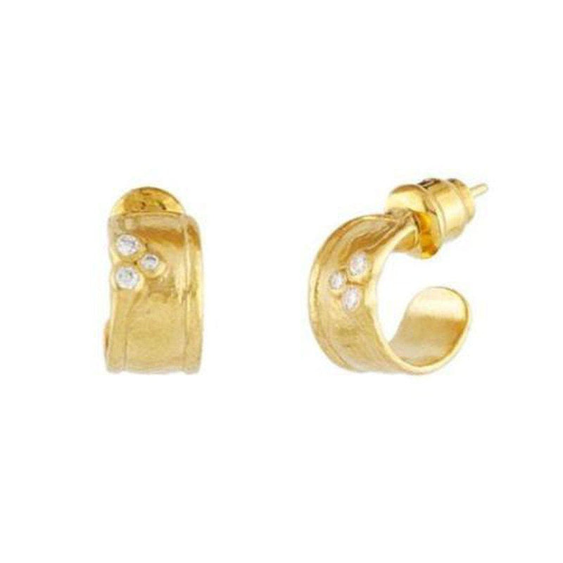 Pointelle 22K Gold White Diamond Earrings - E-SCTDI-HPS-6DI-P-GURHAN-Renee Taylor Gallery