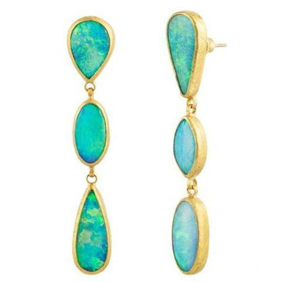Amulet Hue 24K Gold Opal Earrings - E-U19961-OP-GURHAN-Renee Taylor Gallery