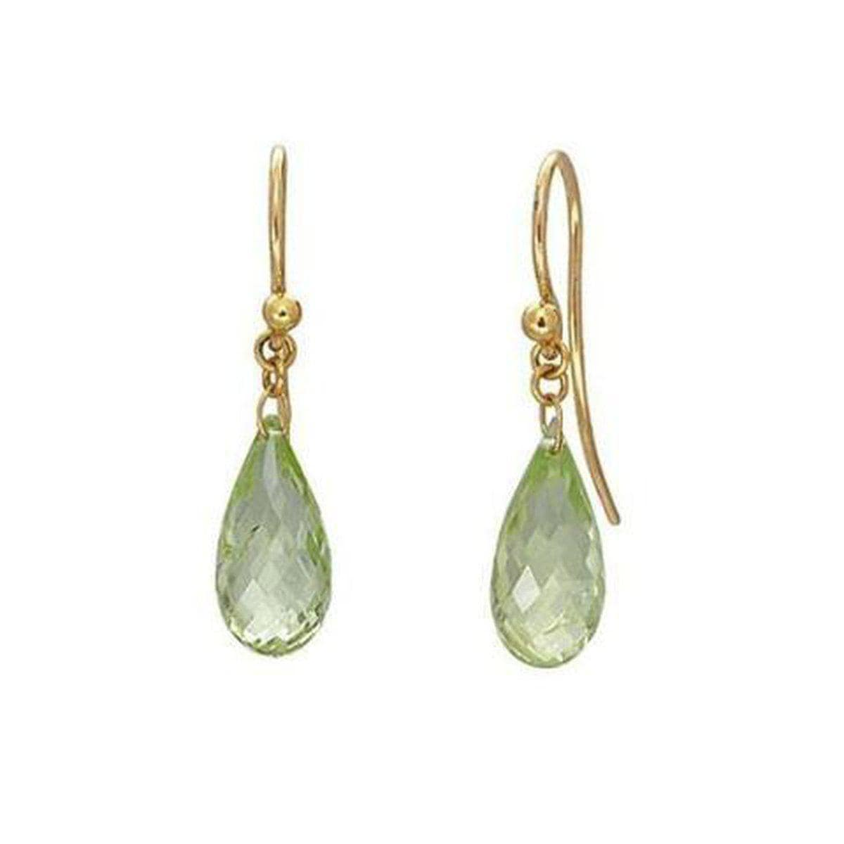 Delicate Hue 24K Gold Peridot Earrings - E-U23447-PD