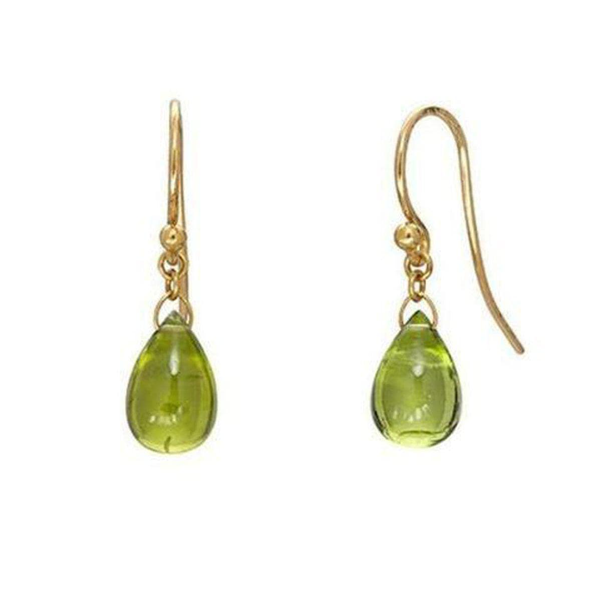 Delicate Hue 24K Gold Peridot Earrings - E-U23457-PD-GURHAN-Renee Taylor Gallery