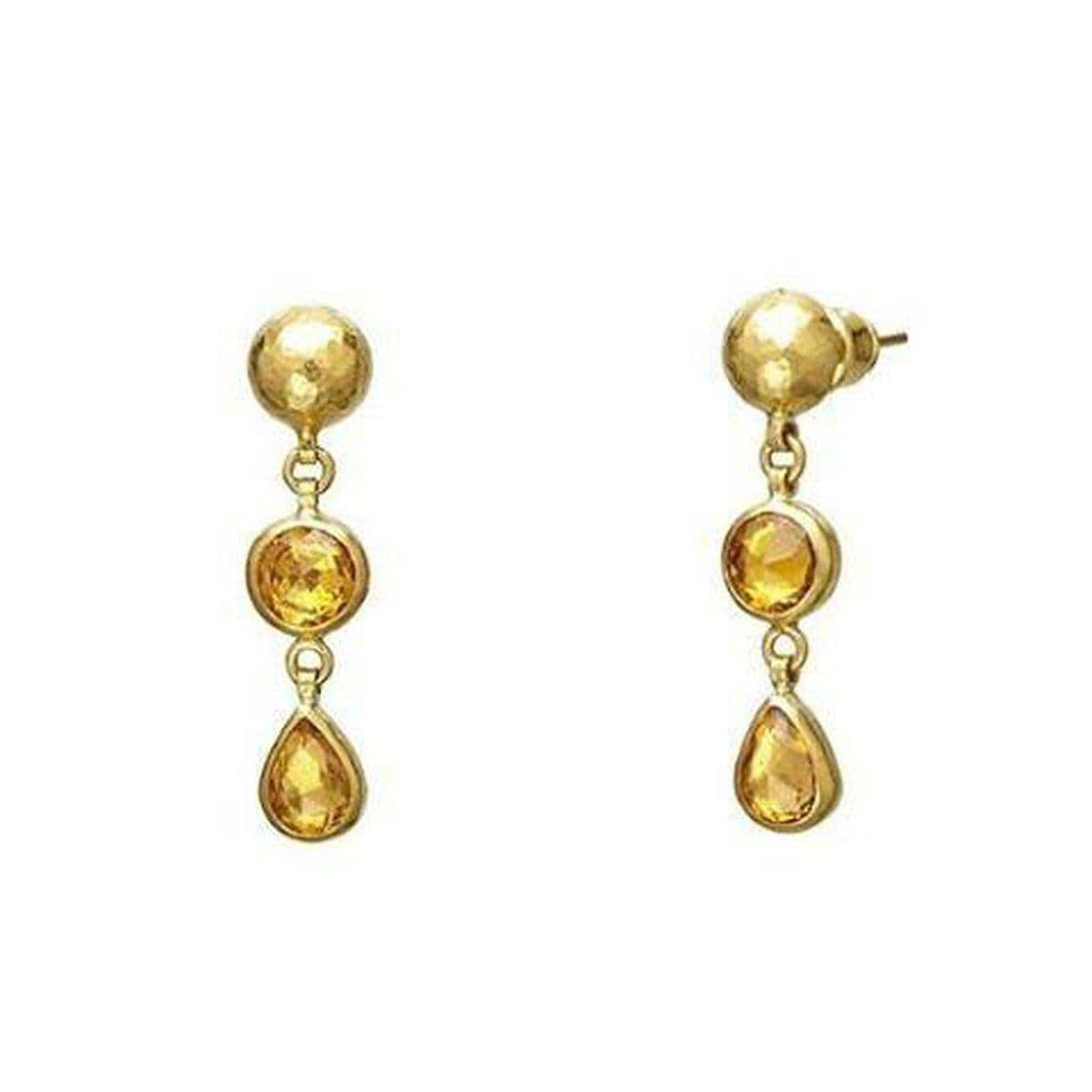 Elements 24K Gold Sapphire Earrings - E-U23945-FSA