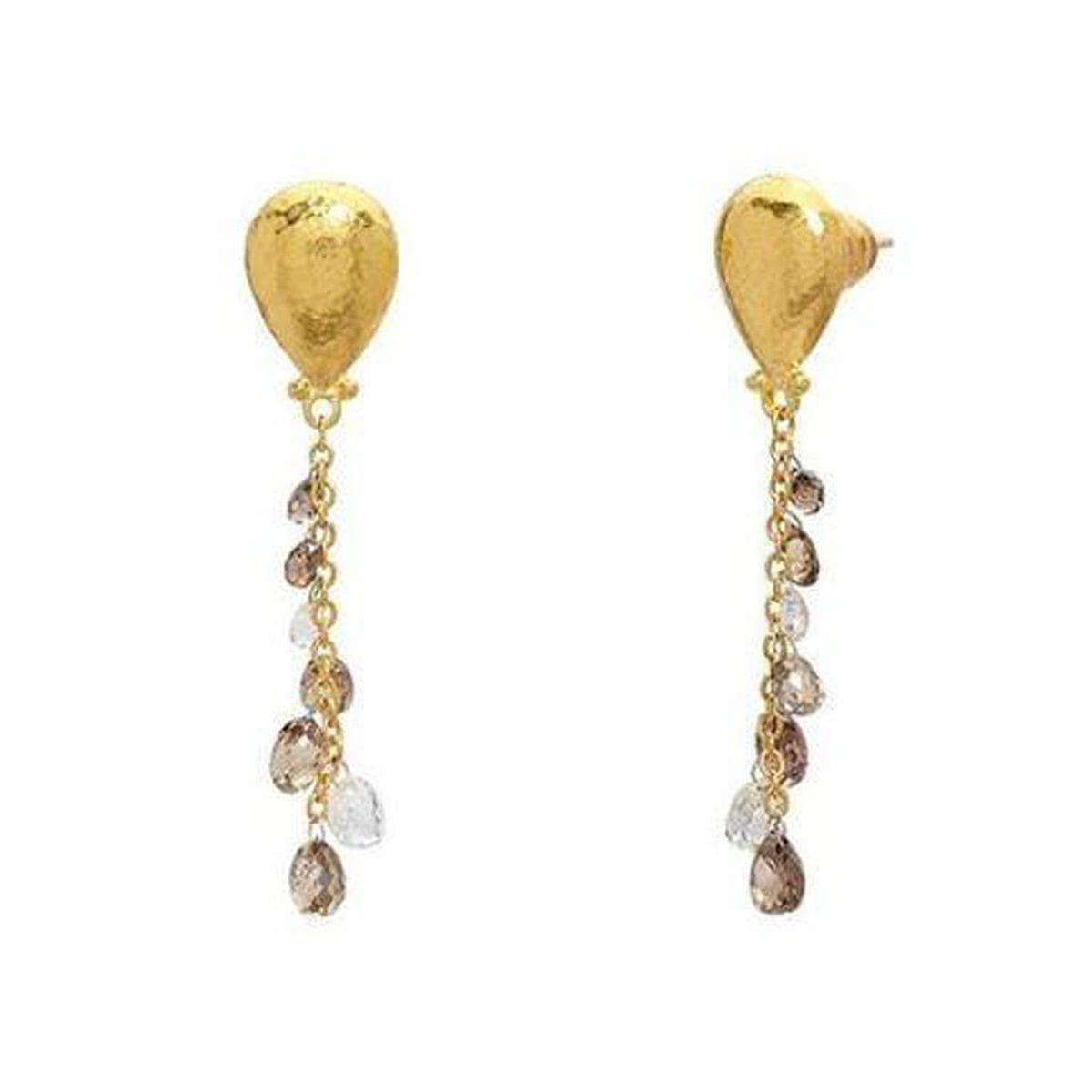 Delicate 24K Gold Diamond Earrings - E-U24099-DI-GURHAN-Renee Taylor Gallery