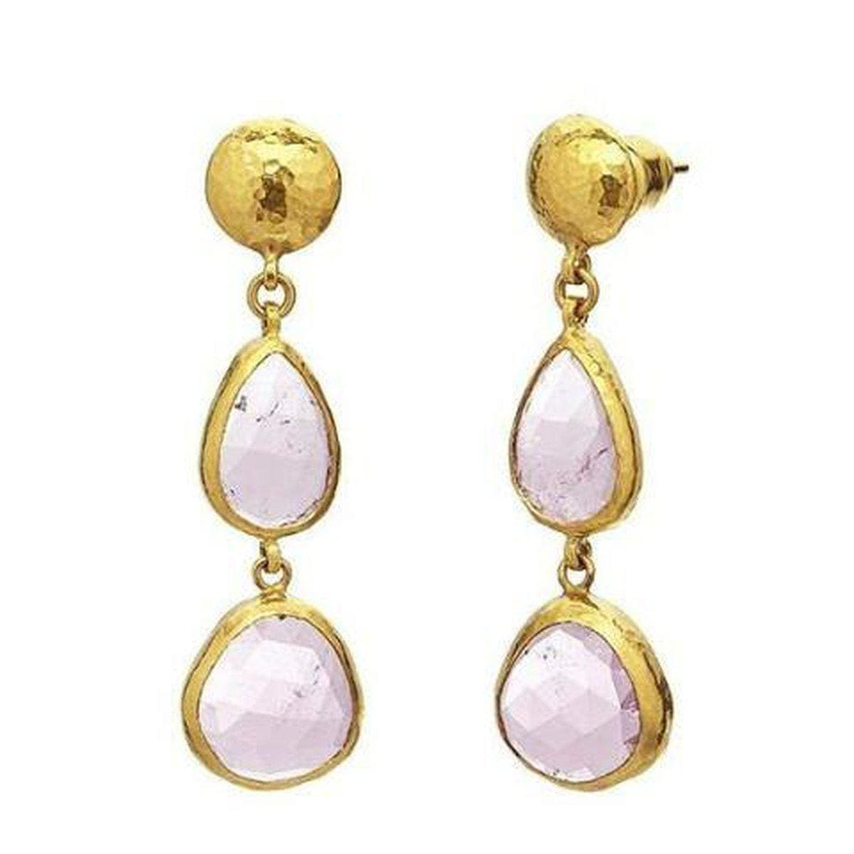 Elements 24K Gold Pink Tourmaline Earrings - E-U24144-PT-GURHAN-Renee Taylor Gallery