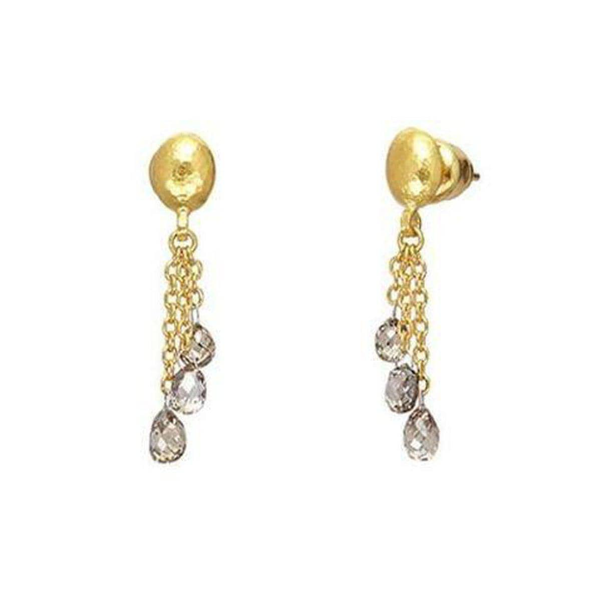 Delicate 24K Gold Diamond Earrings - E-U24198-DI-GURHAN-Renee Taylor Gallery