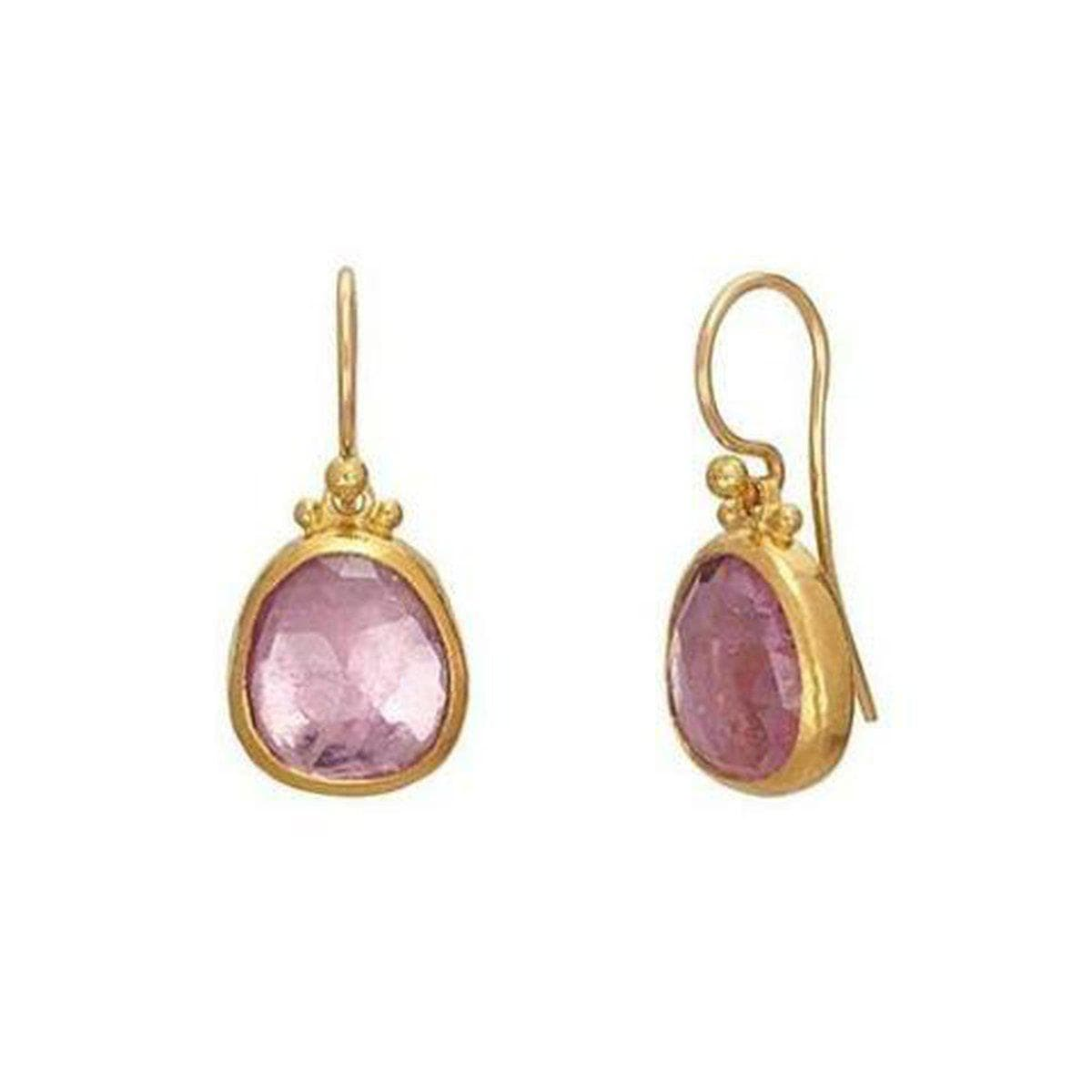 Elements 24K Gold Pink Tourmaline Earrings - E-U24496-PT-GURHAN-Renee Taylor Gallery