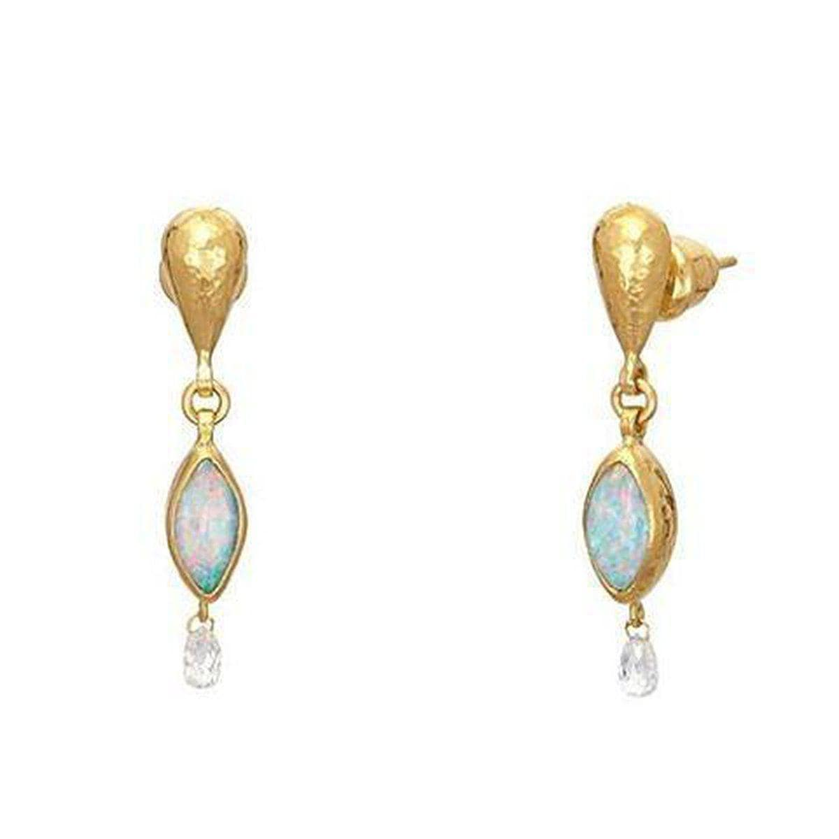 Amulet Hue 24K Gold Diamond Opal Earrings - E-U24628-OP-GURHAN-Renee Taylor Gallery