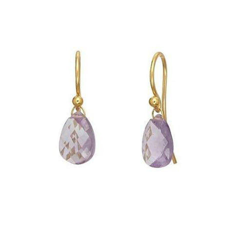 Delicate Hue 24K Gold Amethyst Earrings - E-U25017-AM-GURHAN-Renee Taylor Gallery