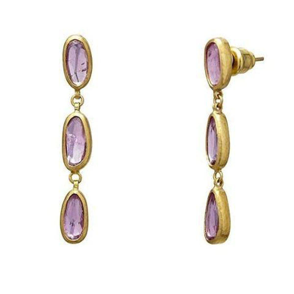 Elements 24K Gold Sapphire Earrings - E-U25259-FSA-GURHAN-Renee Taylor Gallery