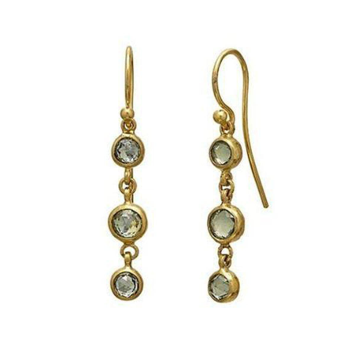 Elements 24K Gold Sapphire Earrings - E-U25266-FSA-GURHAN-Renee Taylor Gallery