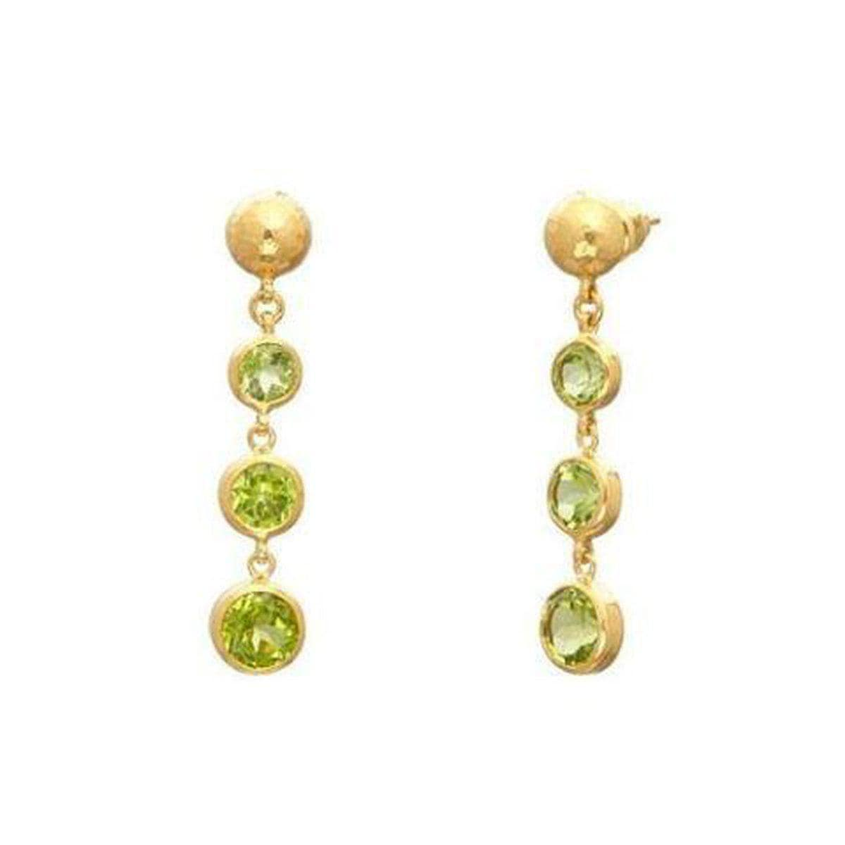 Rainbow 24K Gold Peridot Earrings - E-U25816-PD-GURHAN-Renee Taylor Gallery