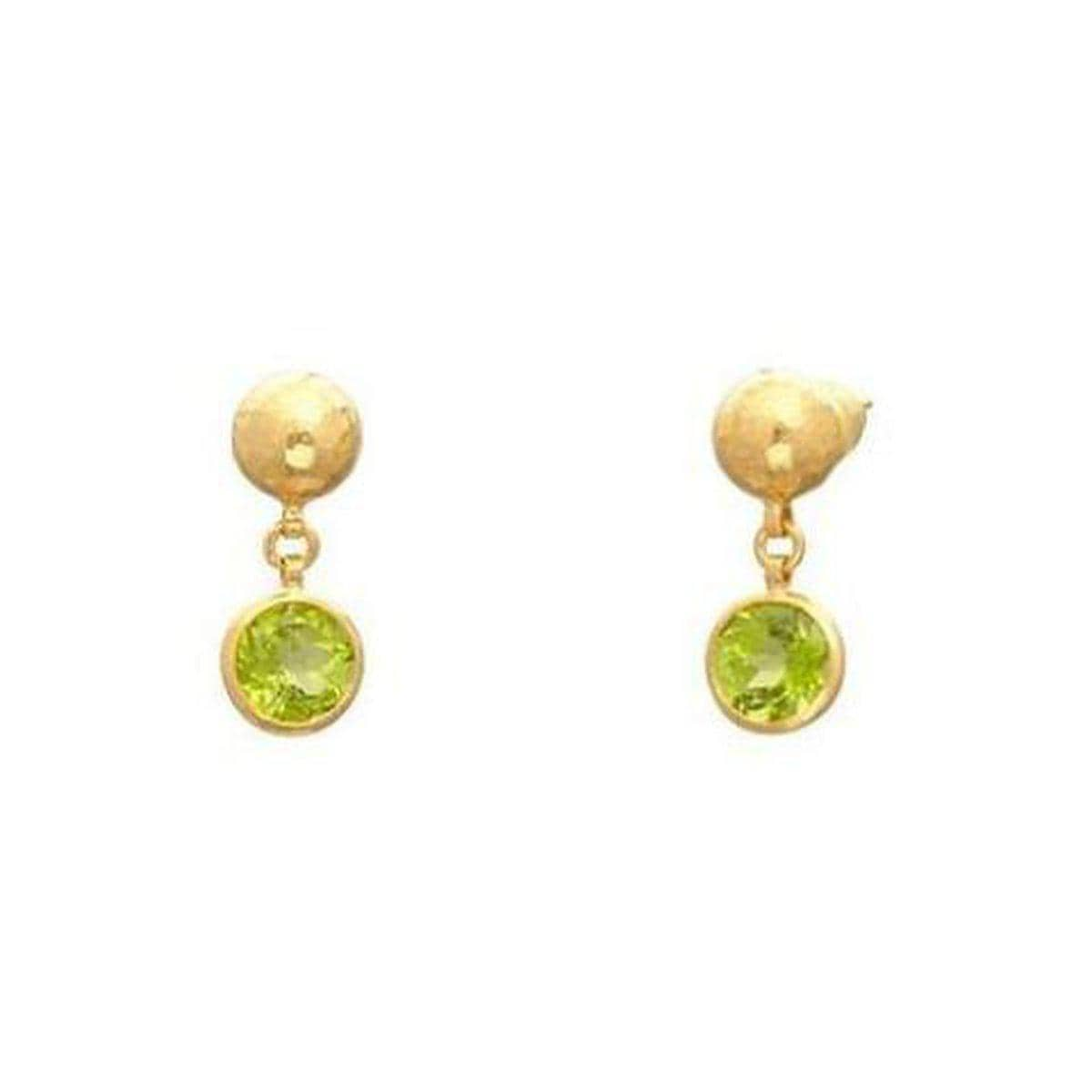 Rainbow 24K Gold Peridot Earrings - E-U25819-PD