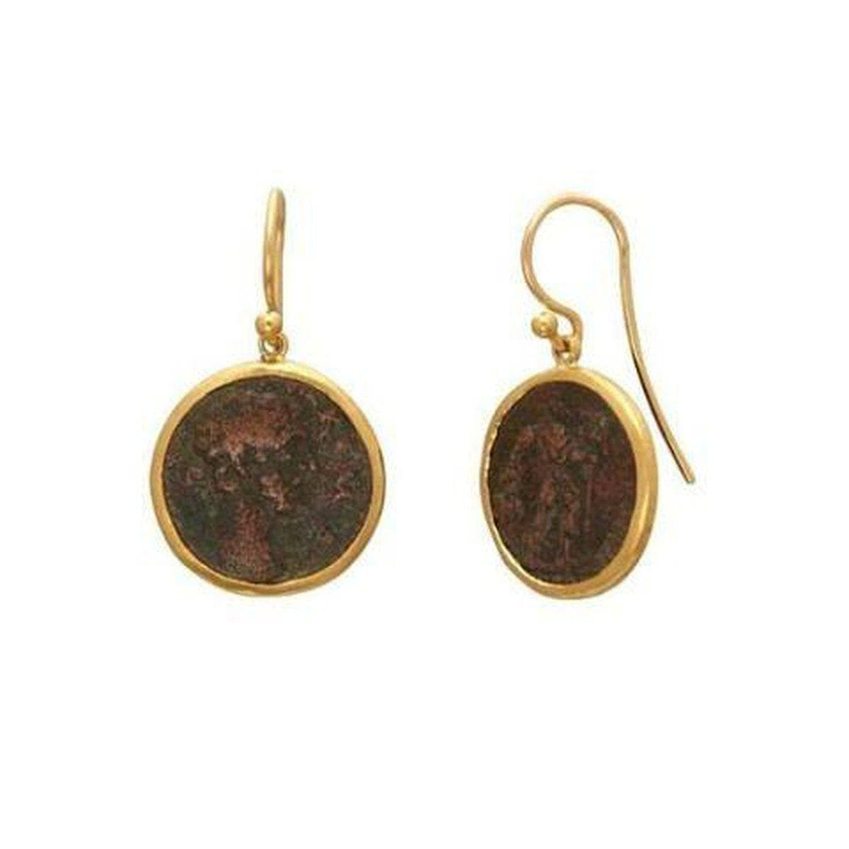 Antiquities 24K Gold Coin Earrings - E-U25838-CN-GURHAN-Renee Taylor Gallery