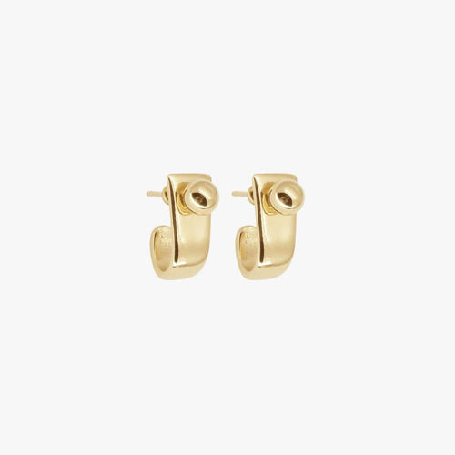 Gold Plated Brass Earrings - E0026 ORO00-CXC-Renee Taylor Gallery