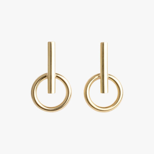 Gold Plated Earrings - E0039 ORO00-CXC-Renee Taylor Gallery