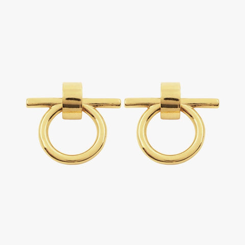 Gold Plated Earrings - E0047 ORO00-CXC-Renee Taylor Gallery