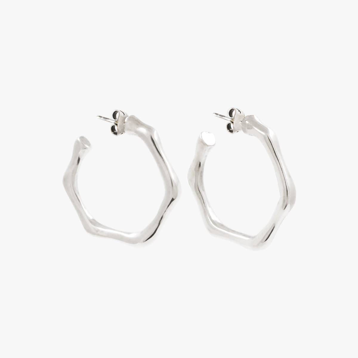 Sterling Silver Plated Earrings - E0060MET-CXC-Renee Taylor Gallery
