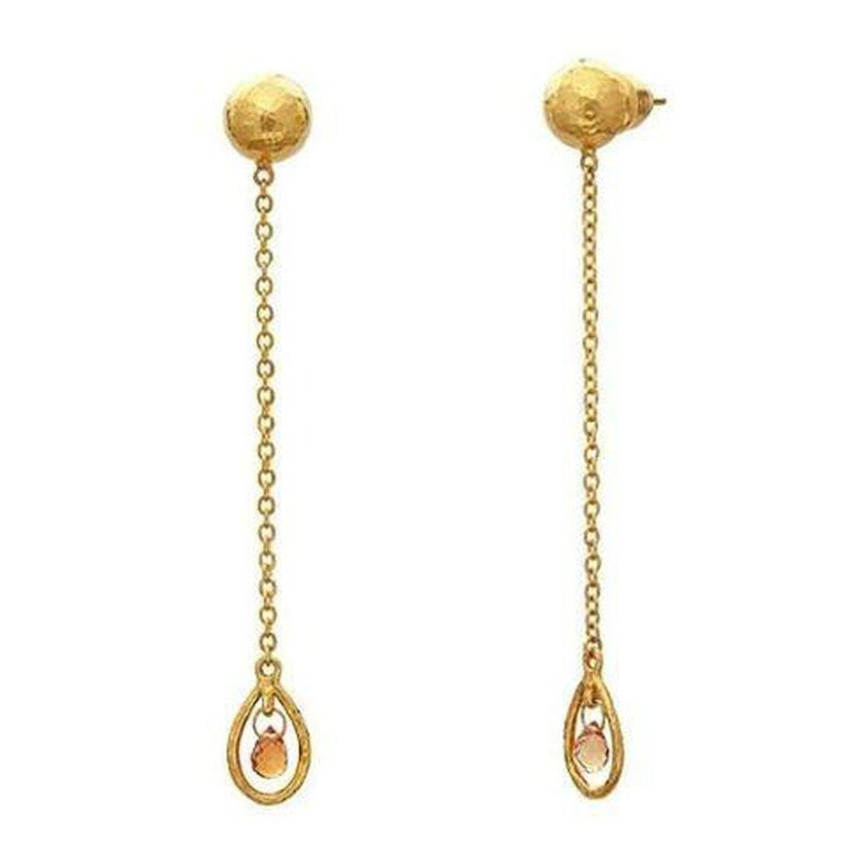Delicate Hue 24K Gold Sapphire Earrings - E8-FSB-1FR-CH4-1OR-GURHAN-Renee Taylor Gallery
