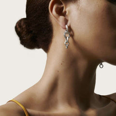 Classic Chain Knife Edge Drop Earring - EB90487-John Hardy-Renee Taylor Gallery
