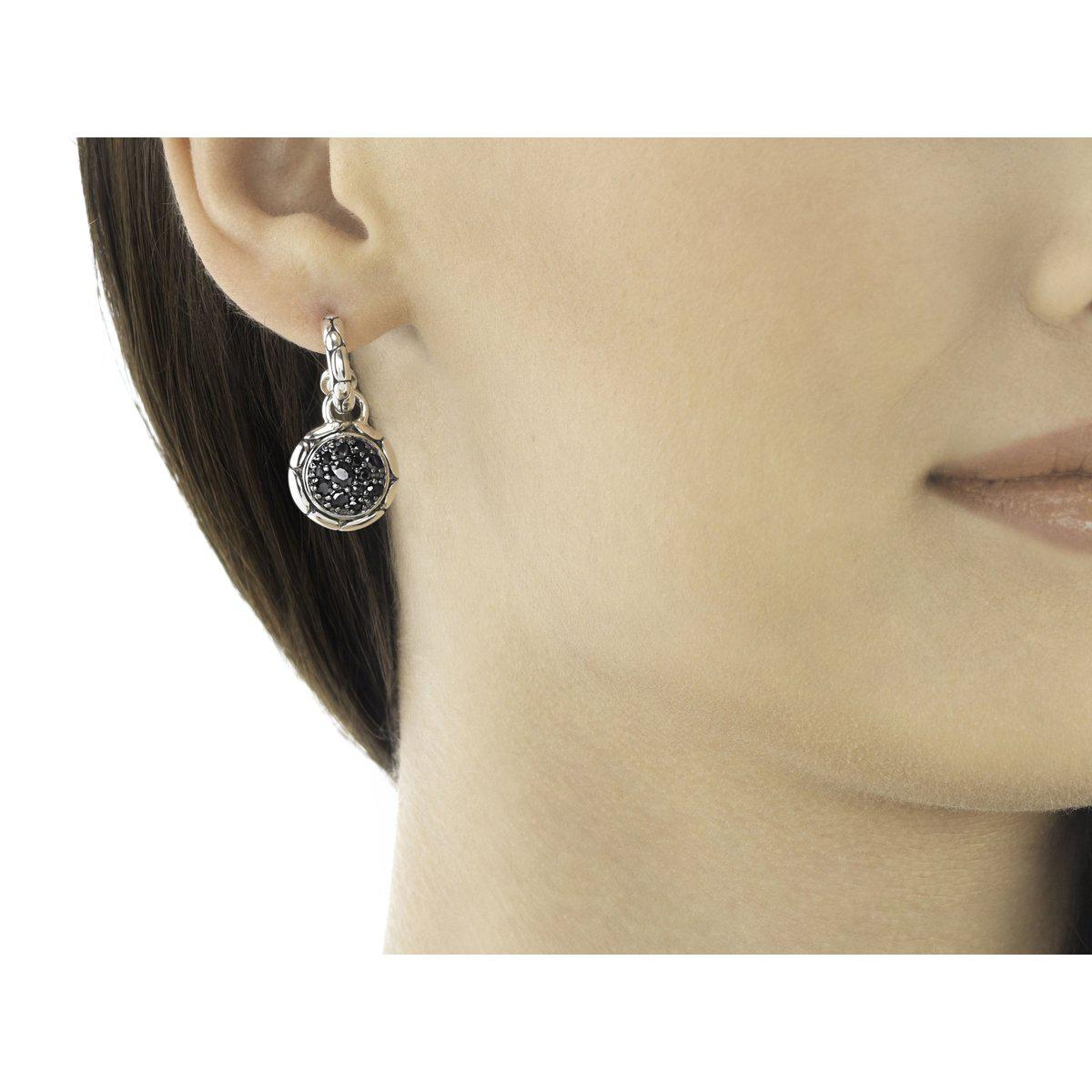 Kali Extra Small Drop Earring with Black Sapphire - EBS20257BLS-John Hardy-Renee Taylor Gallery