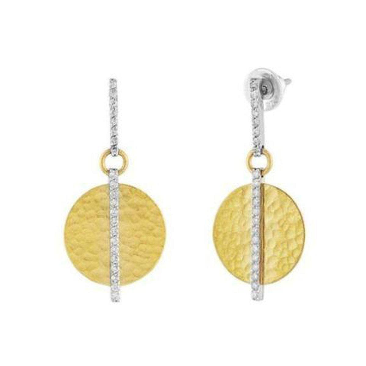 Lush 24K Gold White Diamond Earrings - EDIB-GFDI-14-SD-GURHAN-Renee Taylor Gallery