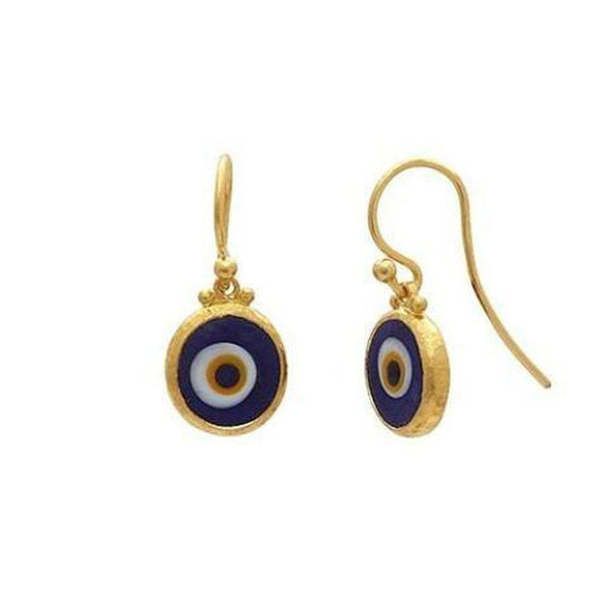 Juju 24K Gold Evil Eye Earrings - EHSG-EED10-SD
