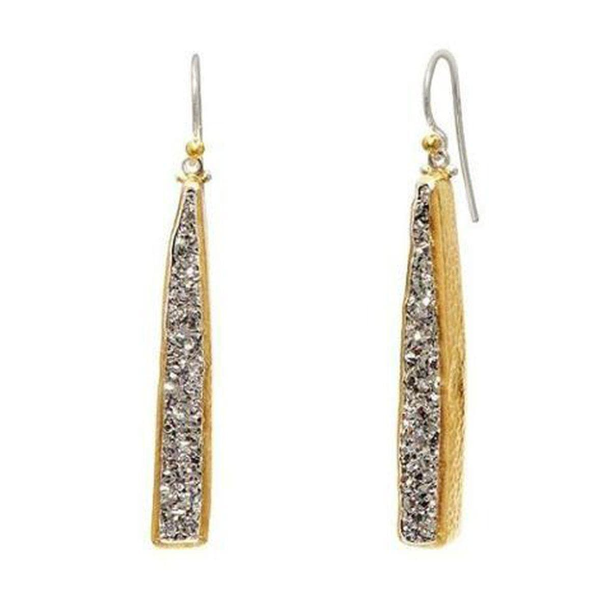 Mystere Sterling Silver Drusy Quartz Earrings - EHSSG-DQ406-DR-DB-GURHAN-Renee Taylor Gallery