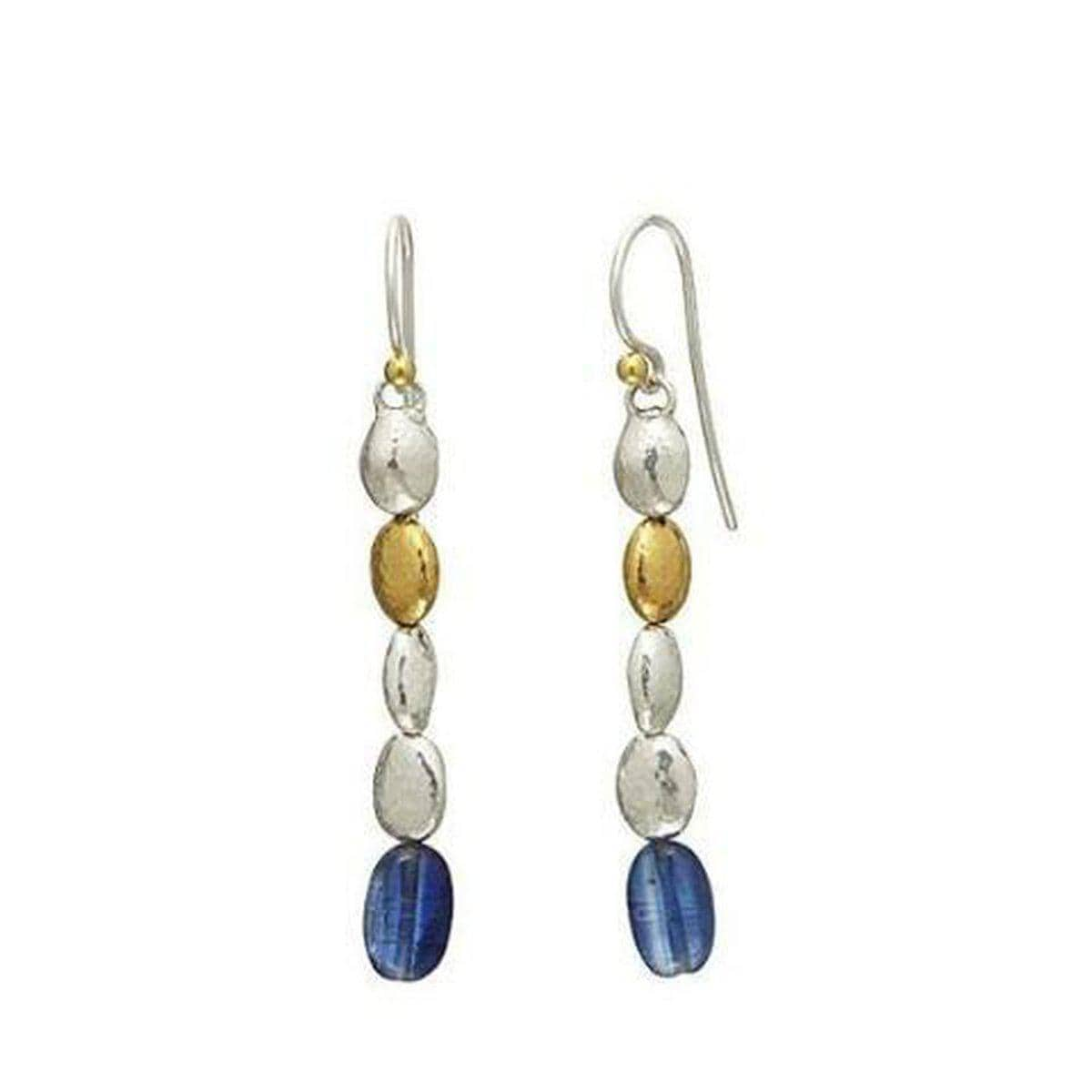 Spell Sterling Silver Kyanite Earrings - EHSSG-NGS-1KYB-1G-5D-GURHAN-Renee Taylor Gallery