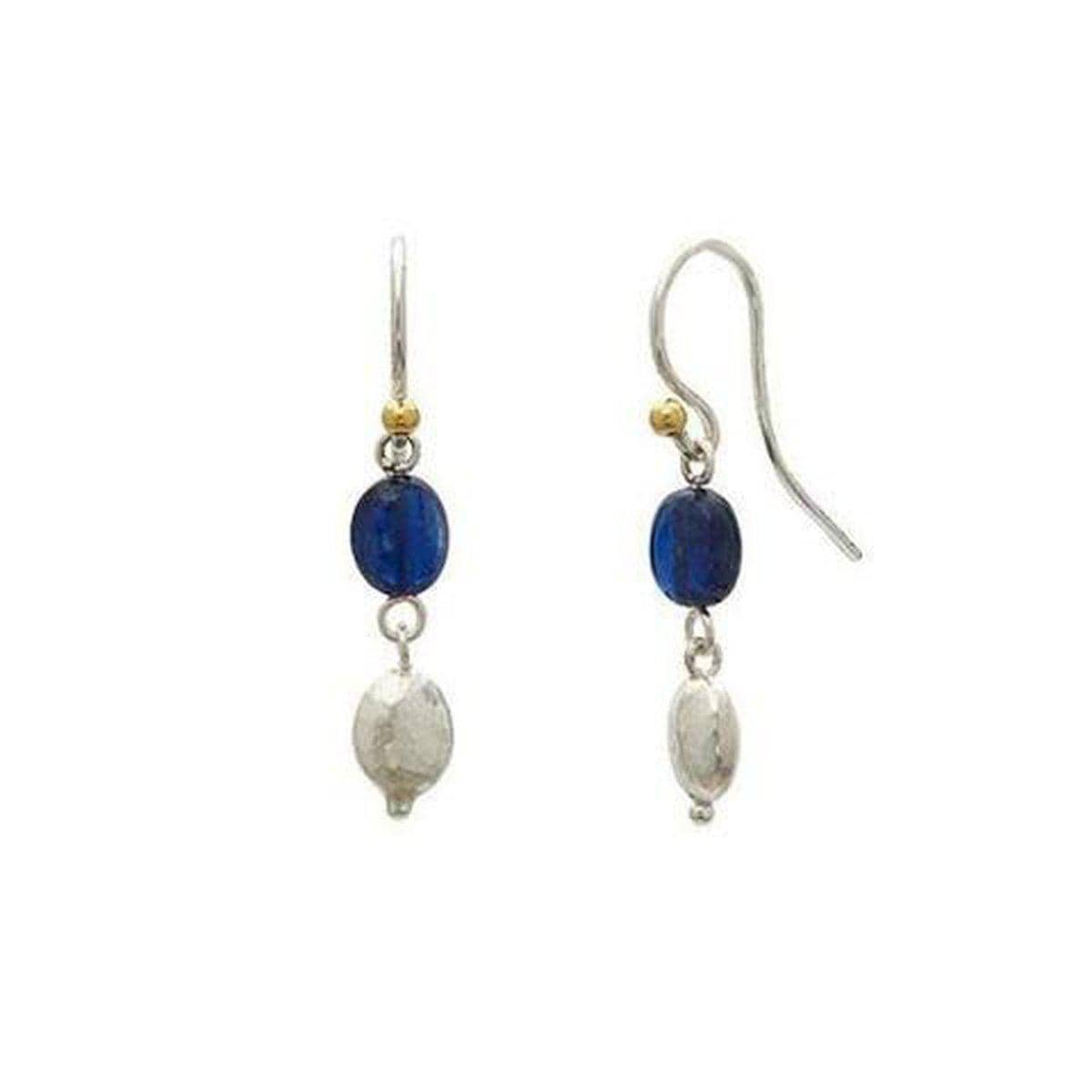 Spell Sterling Silver Kyanite Earrings - EHSSG-NGS-1KYB-DD-GURHAN-Renee Taylor Gallery