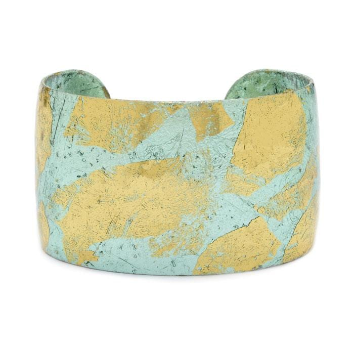 Turquoise Cuff - EL107-Evocateur-Renee Taylor Gallery