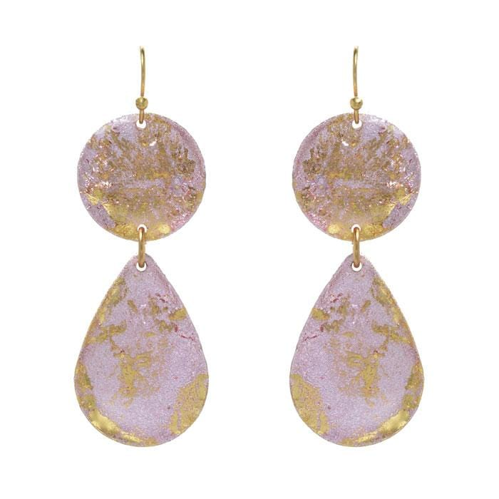 Pink Champagne Mini Teardrop Earrings - EL405-Evocateur-Renee Taylor Gallery