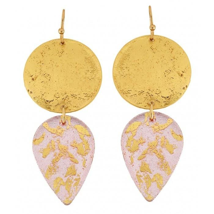 Champagne Gala Earrings - EL419-Evocateur-Renee Taylor Gallery