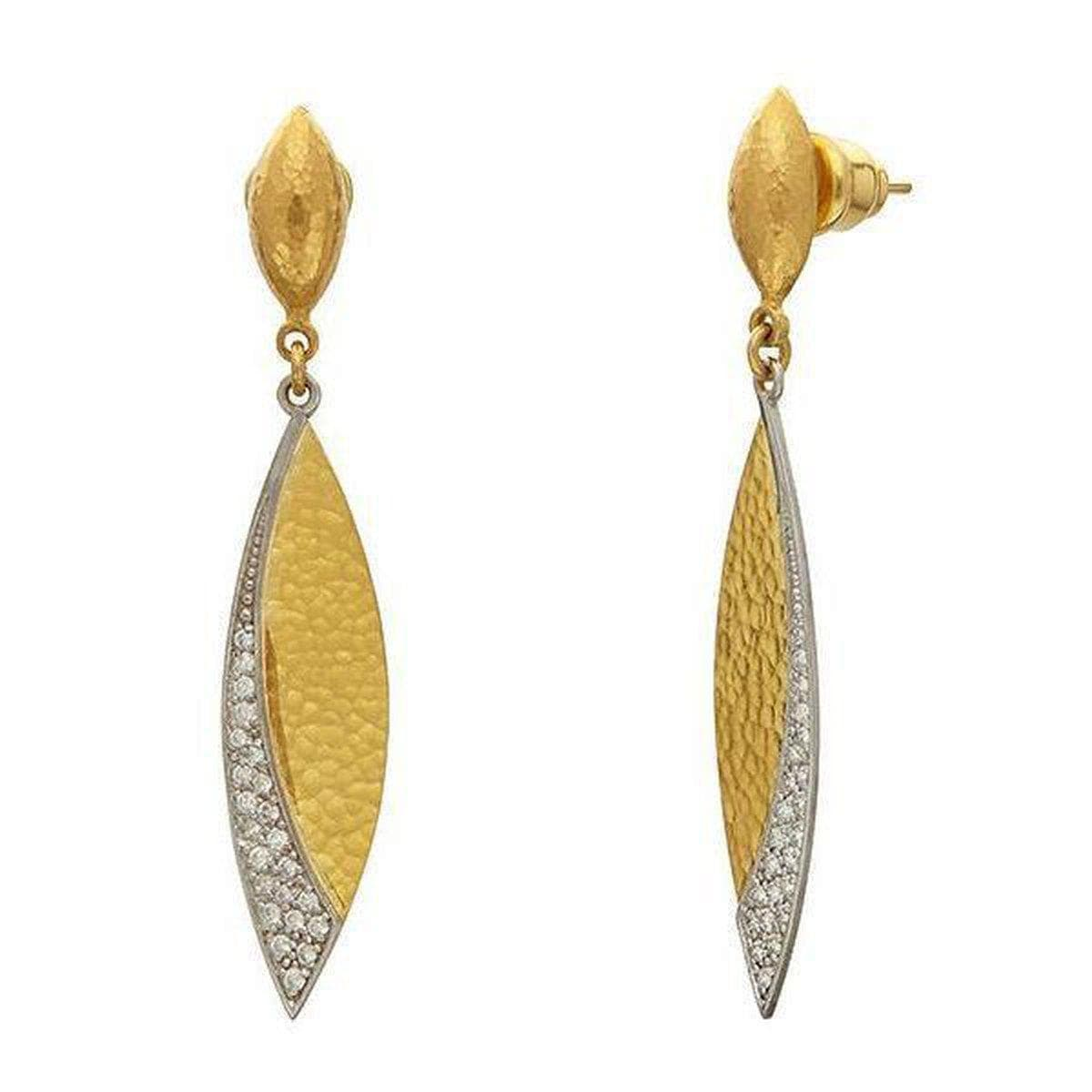 Mango 24K Gold White Diamond Earrings - EOL-LSPV-MQ30-DI-GURHAN-Renee Taylor Gallery