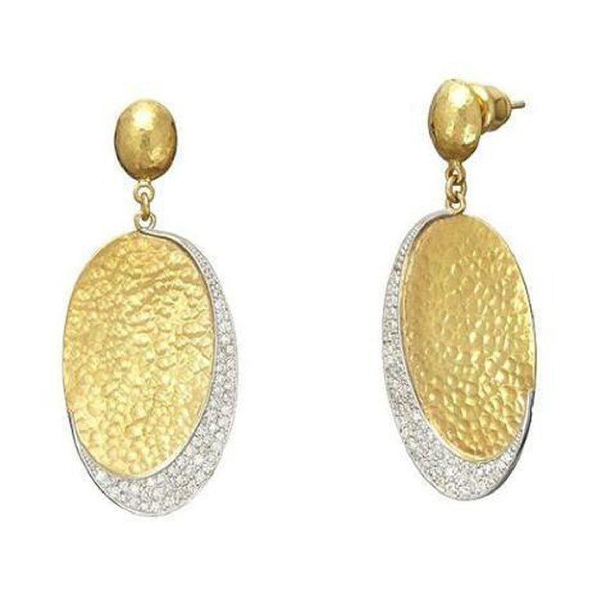 Mango 24K Gold White Diamond Earrings - EOL-LSPV-OV30-DI-GURHAN-Renee Taylor Gallery