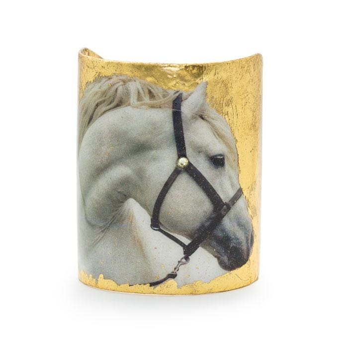 White Horse Cuff - EQ101-Evocateur-Renee Taylor Gallery