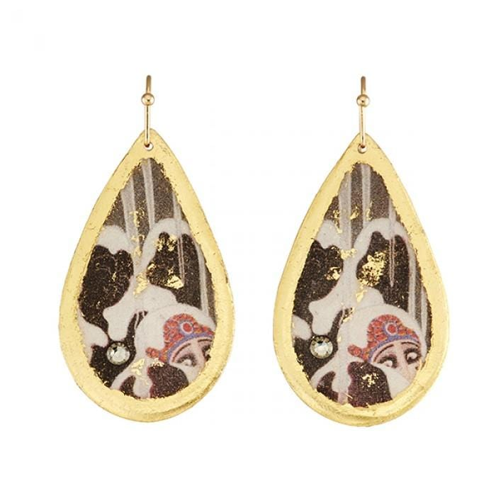 Erté Love's Captive Medium Teardrop Earrings - ER404-Evocateur-Renee Taylor Gallery