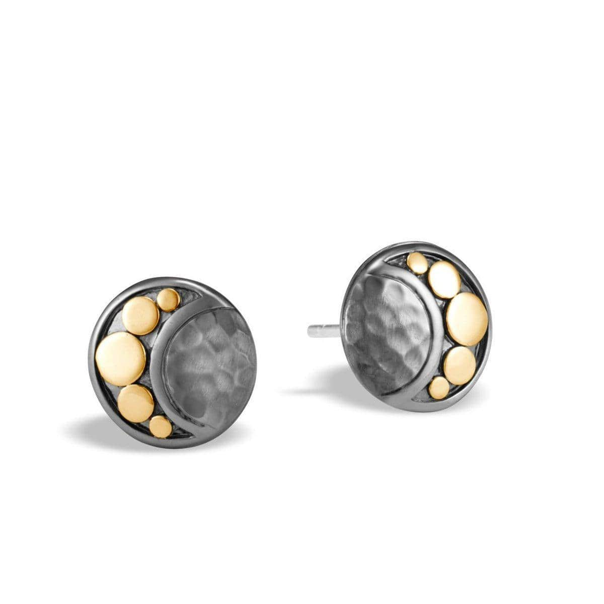 Dot Moon Phase Hammered Stud Earring - EZ30003BRD-John Hardy-Renee Taylor Gallery