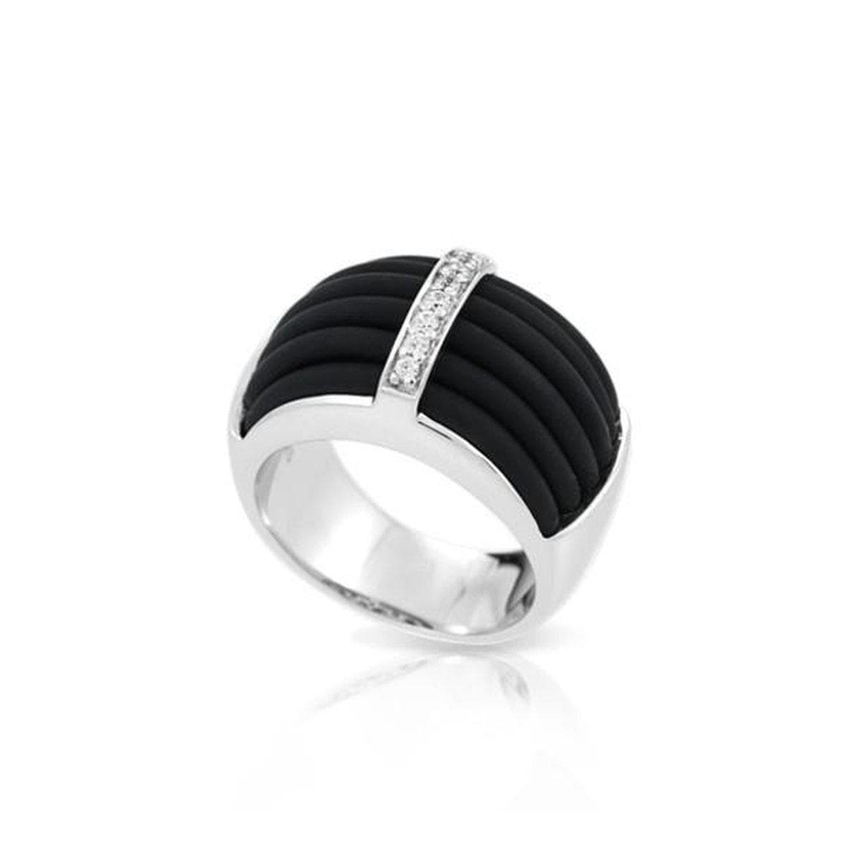 Enrapture Vertical Black Ring-Belle Etoile-Renee Taylor Gallery