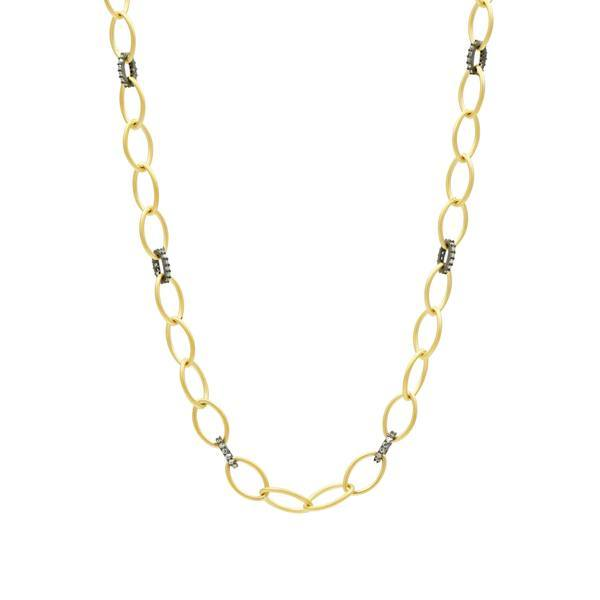 Signature Two-Tone Link Necklace - FBYKZN14-18-Freida Rothman-Renee Taylor Gallery