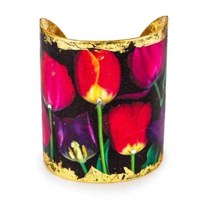 French Tulips Cuff - FL105-Evocateur-Renee Taylor Gallery