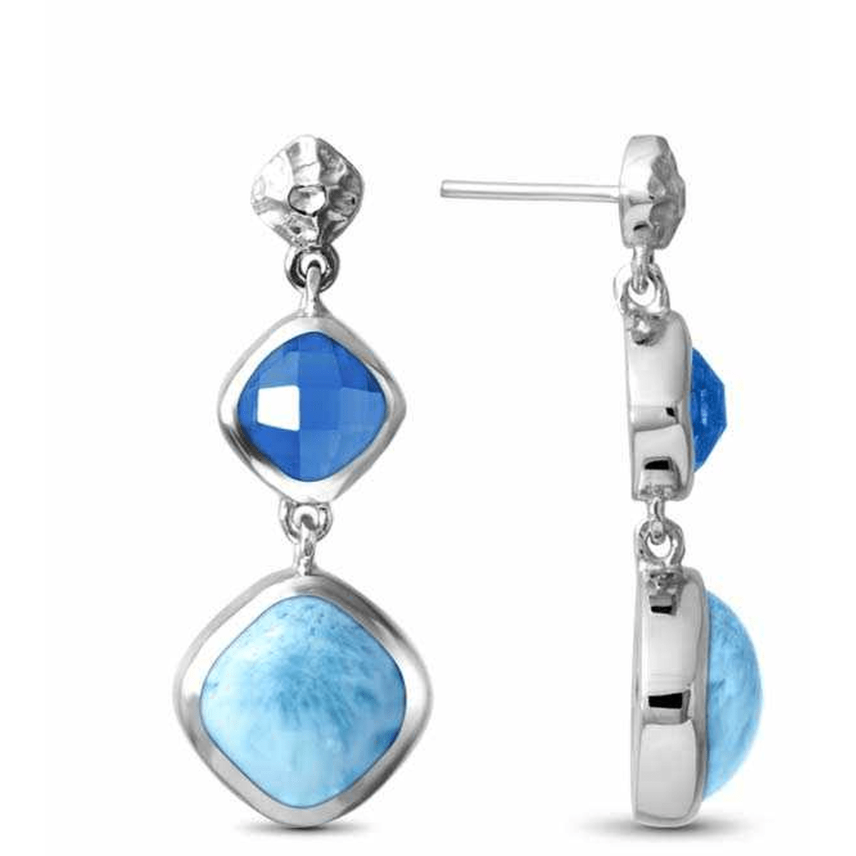 Faceta Earrings - Eface00-00-Marahlago Larimar-Renee Taylor Gallery