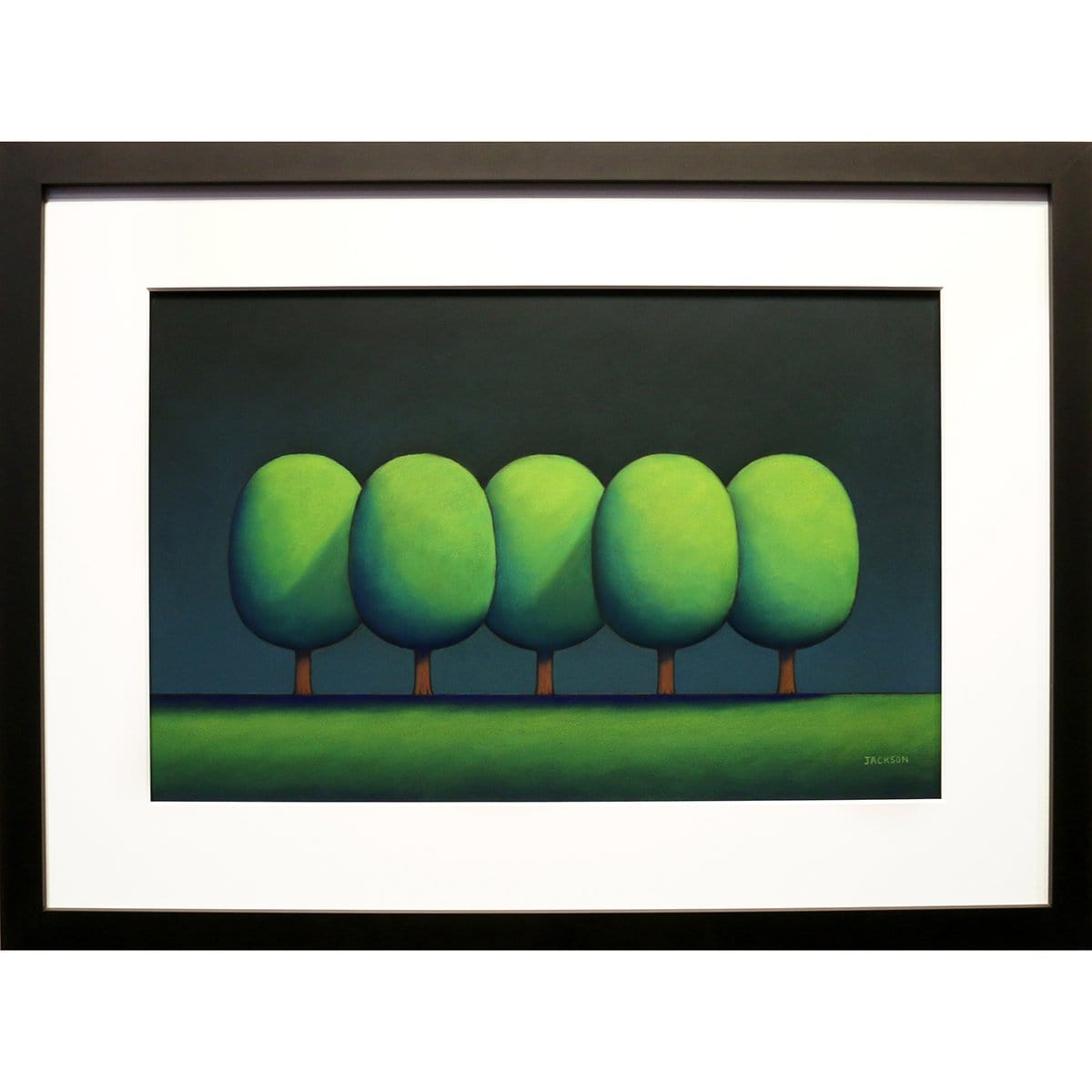 """Five Cool Green Trees""-Christopher Jackson-Renee Taylor Gallery"