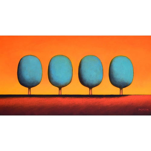 """Four Turquoise Trees""-Christopher Jackson-Renee Taylor Gallery"