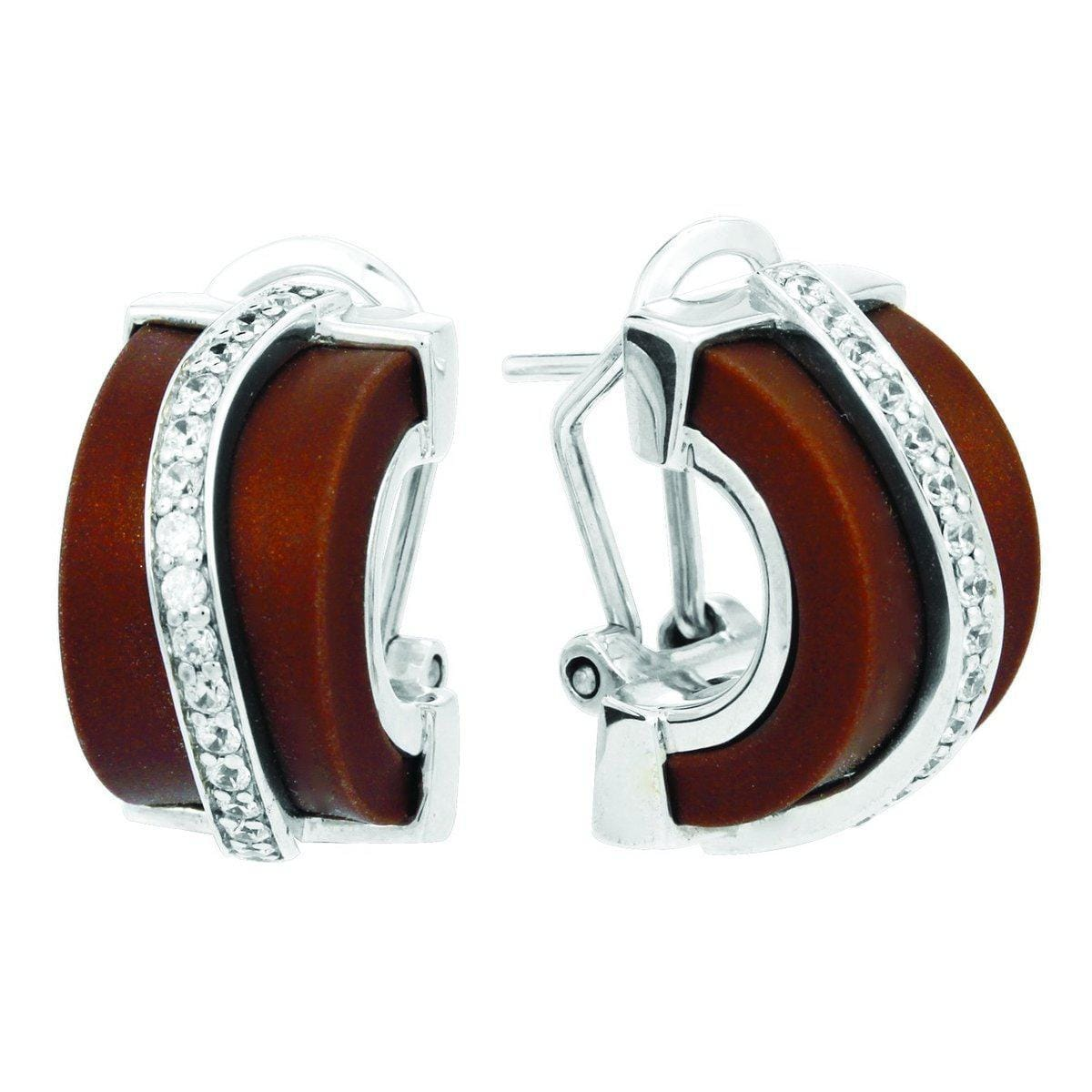 Enrapture Wavy Brown Earrings-Belle Etoile-Renee Taylor Gallery
