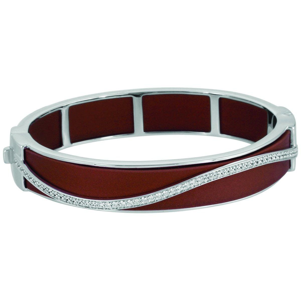 Enrapture Wavy Brown Bangle-Belle Etoile-Renee Taylor Gallery