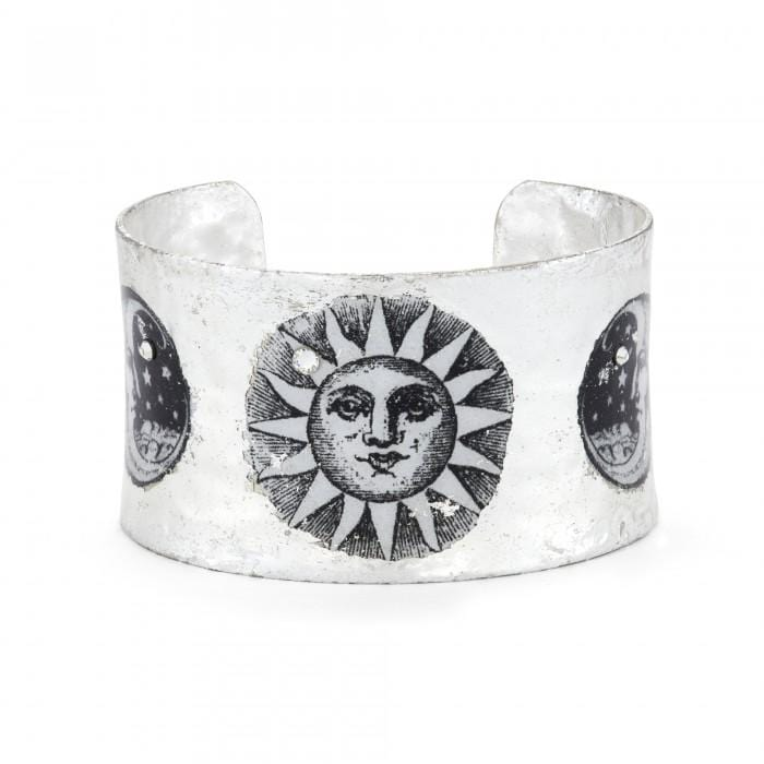 Sun and Moon Corset Silver Cuff - GL107-5C-Evocateur-Renee Taylor Gallery