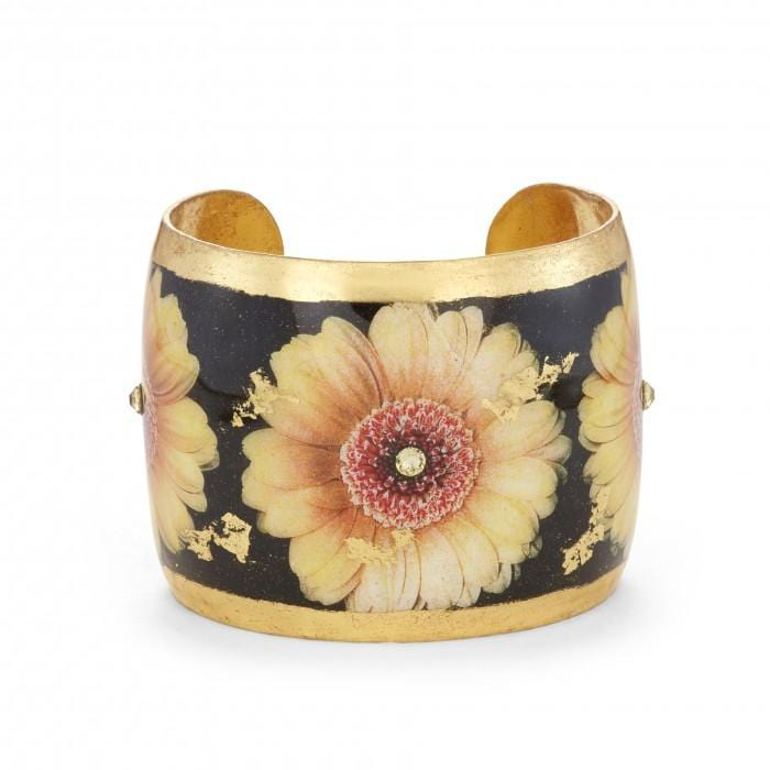 Yellow Gerber Daisy Cuff - GN122-Evocateur-Renee Taylor Gallery