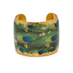 Feathered Peacock Cuff - GN130-Evocateur-Renee Taylor Gallery