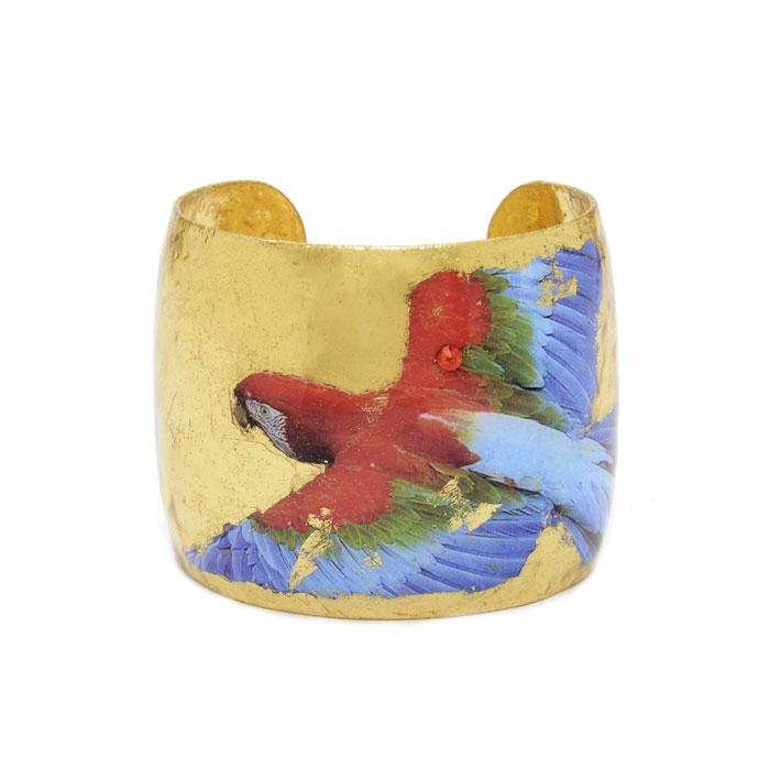 Macaw Gold Cuff - GN140-Evocateur-Renee Taylor Gallery